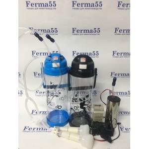 Электрический доильный аппарат для коз с пульсатором на 6 литров