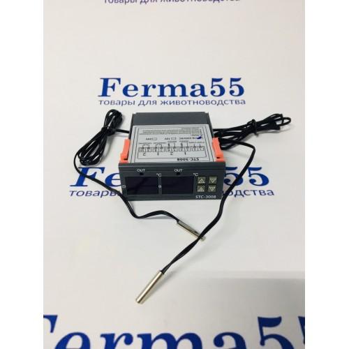 STC-3008 двухканальный контроллер (-55+120°С, 220В, 10А)